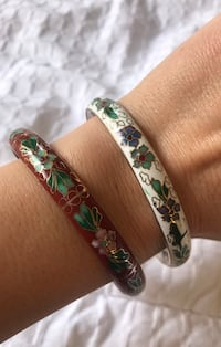 Two bangle bracelets 37 km
