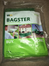 Bagster dumpster in a bag 3 cu yd. strong enough to hold 3,300 lbs of debris or waste, great for using while doing home renovation/evictions/yard work. Sold at Home Depot for 45+ brand new 30 firm on price.  Colorado Springs, 80917