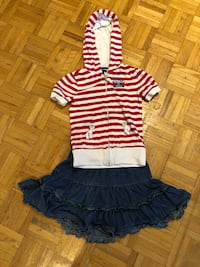 Tommy Hilfiger top (size 4-5) and jean skirt Children's Place (size 4) Laval, H7P 3B6