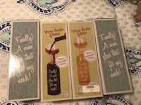 Wine Bottle Glass (4) NEW perfect holiday gift  663 mi
