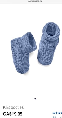 Gap knitted booties