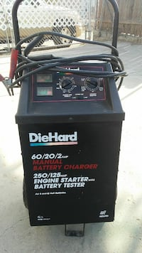 black DieHard manual battery charger