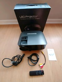 Goodee LED Projector with HDMI & VGA interface and remote control. Frederick