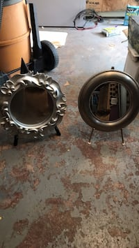 Two silver mirrors on stands  Nyack, 10960
