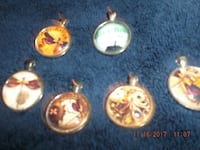 six assorted color of pendants Chico