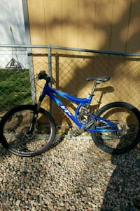blue and white full-suspension bike Fort Collins, 80524