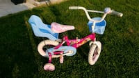 toddler's pink and white bicycle with training whe Brampton, L7A 0B2