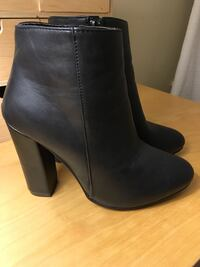 Streetwear Society black leather boots New Westminster, V3L