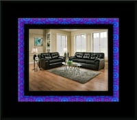 Black bonded sofa and loveseat Lanham, 20706