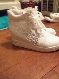 Bran New LACE wedge sneakers
