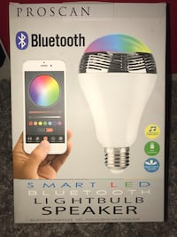 PROSCAN Bluetooth smart LED lightbulb speaker! Port Coquitlam, V3B 1C7