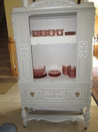 Gorgeous Antique Walnut China Cabinet--A++ COND.