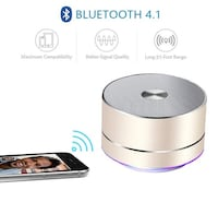 Brand New Seal In Box (Golden) Portable Wireless Bluetooth Speaker with Built-in-Mic,Handsfree Call,AUX Line,TF Card for Iphone Ipad Android Smartphone and More Hayward, 94544