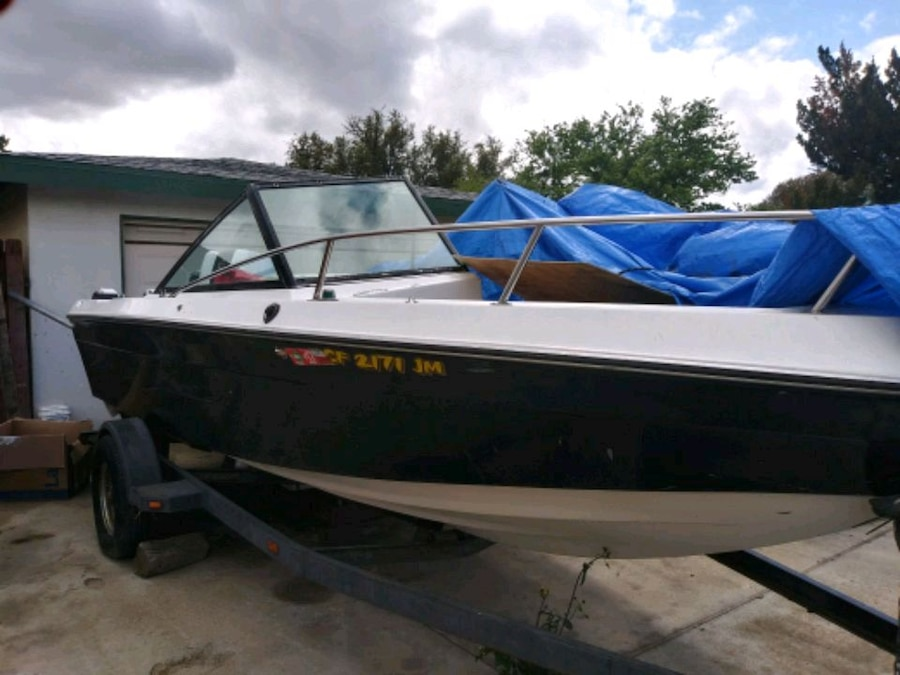 Photo Boat with trailer sale or trade let me see what you got