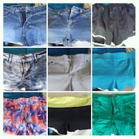 women's assorted shorts 9 total size 7-8 Henderson, 89002