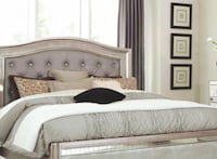 Brand New Queen Bed with Button Tufting CHICAGO