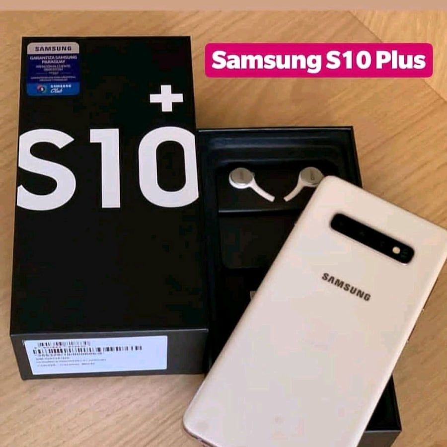 WHITE SAMSUNG S10 PLUS  (128GB)