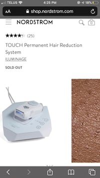 Iluminage touch, permanent hair reduction
