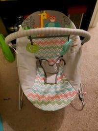 baby's white and green bouncer 322 mi