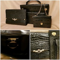 Alligator briefcase with large matching large clutch  Brampton, L6S 2T5