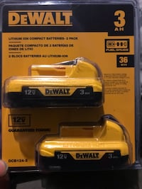 Brand new dewalt batteries