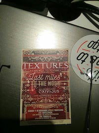 Textures Farewell tour ticket stub