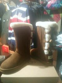 3 bow Chestnut uggs boots
