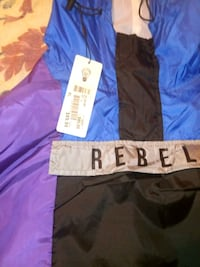 blue and black purple grey rebel jacket
