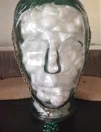 3-D glass head for home decor, styling wigs etc. null, L3B