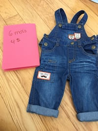 baby's blue denim dungarees pants Shawinigan, G9T