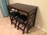 rectangular brown wooden table with four chairs dining set Carlsbad, 92009