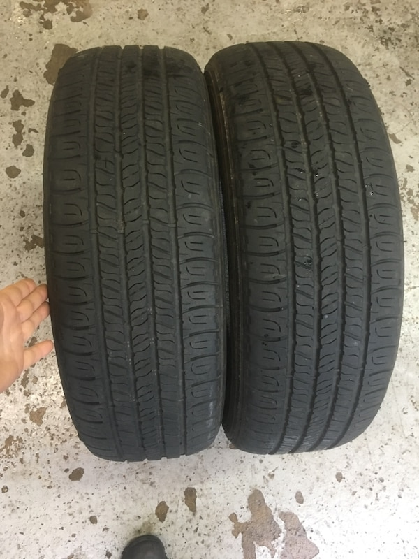2 tires 205/65r16 life %80 $50 good year