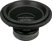 2 Power Acoustic Gothic 12 in Subwoofers