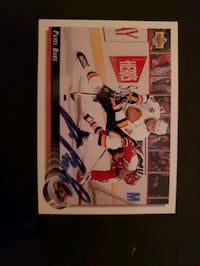 Pavel Bure autographed hockey card