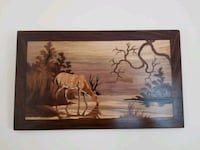 Handmade wooden art wall hanging  Cheverly