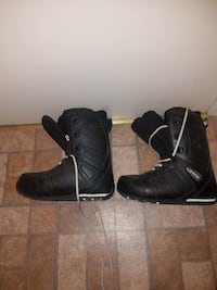 pair of black leather boots Maybrook, 12543