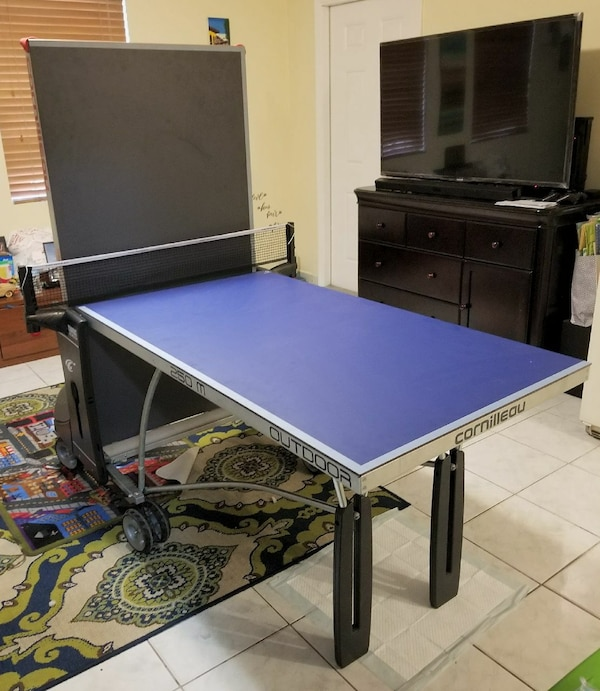 Used Cornilleou 250 500m 2 In 1 Half Ping Pong Table For Miami Letgo