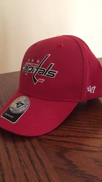 red and white fitted cap Sykesville, 21784