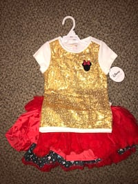"Disney Collection By TUTU COUTURE Shirt/Tutu(Reversible)  ""Minnie"" Size: 4T Monrovia, 91016"
