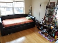Espresso Daybed + Trundle + New Twin Memory Foam Mattress Washington, 20019