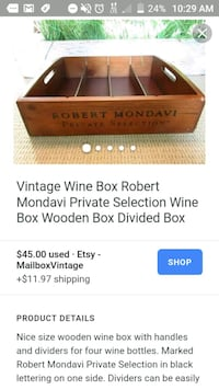 Robert mondavi private collection wine crate Haleyville, 35565