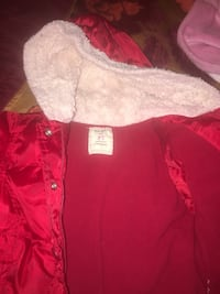Red old navy buttoned-up hoodie