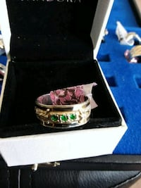 REAL SILVER RING. SIZE 9. WITH GOLD 10 K AROUND IT Calgary, T3A 3H1