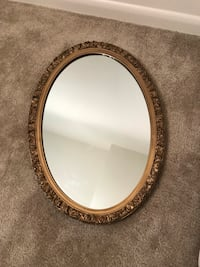 Beautiful Gold Frame Oval Mirror Annandale, 22003