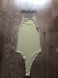 Khaki Ribbed High Neck Bodysuit