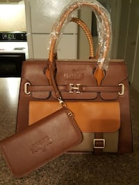women's brown leather Gucci handbag with purse