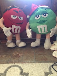 Green and Red M&M's plush
