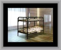 Twin bunkbed frame free mattress and delivery Temple Hills