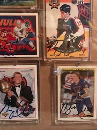 14 autograph Brett Hull hockey cards Duluth, 55806