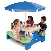 Little Tikes Easy Store Picnic Table with Umbrella Riverside, 92509
